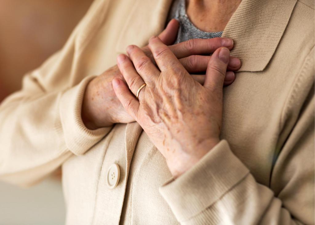 mulher mais velha infarto